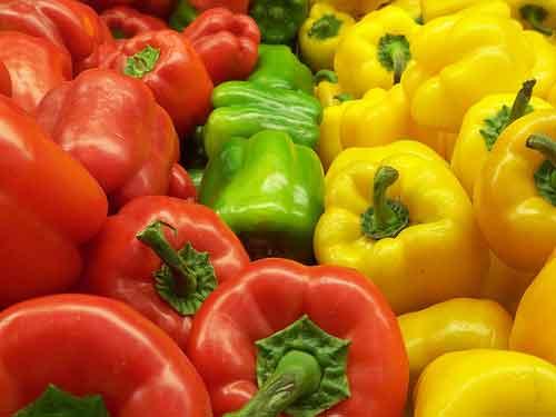 Vitamina A  en la mozzarélla y en los pimientos